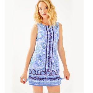 Lilly Pulitzer Mila Blue Bow Shift Dress